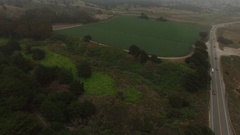 4K Aerial Drone Pasture and Woods Stock Footage