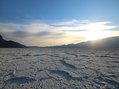 Time-lapse of sunset in Badwater Basin, Death Valley, California Stock Footage