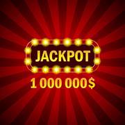 Casino game jackpot winner banner Stock Illustration