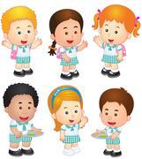 Vector illustration of  School children Stock Illustration