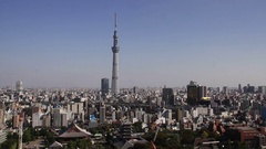 Above view of Tokyo cityscape, Tokyo, Japan Stock Footage
