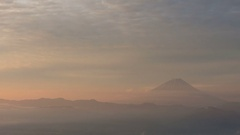 Time-lapse footage of sky over Mount Fuji, Shizuoka Prefecture, Japan Stock Footage