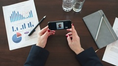 Businesswoman Video Calling Colleague Stock Footage