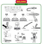 Vector illustration of Welding Tools Piirros