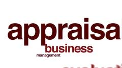 Appraisal animated word cloud. Stock Footage