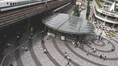 Time-lapse footage of people walking in Yurakucho, Tokyo, Japan Stock Footage