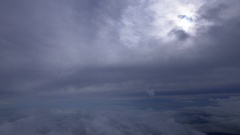 Seo of clouds from the top of Mount Fuji, Japan Stock Footage