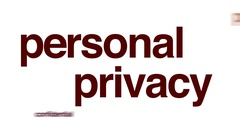 Personal privacy animated word cloud. Stock Footage