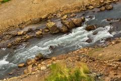 Geysernaya River in Valley of Geysers Stock Photos