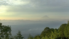 View of Mount Fuji from Amariyama, Shizuoka Prefecture, Japan Stock Footage