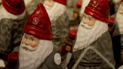 Santa Claus army in red hats. 4K Stock Footage