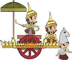 Vector illustration of Thailand angle Stock Illustration