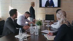 Business People on Video Call Conference Stock Footage