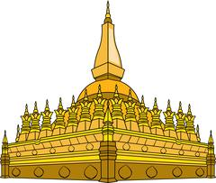 Vector illustration of  Laos temple Stock Illustration