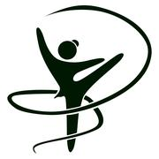 Gymnast icon vector Stock Illustration