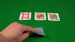 Casino, poker offers a full house on the table Stock Footage