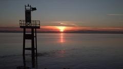 Seiner at Sunset, Georgia Strait, Steveston 4K UHD Stock Footage