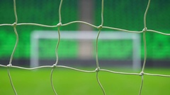 Soccer or football goal through the net. Russia World Cup Stock Footage