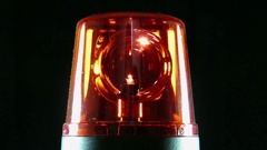 Red beacon with rotating mirrors Stock Footage