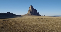Shadows at rock formation, Shiprock, New Mexico, United States Stock Footage