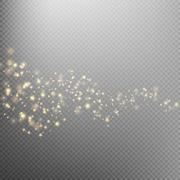Gold glittering star dust trail. EPS 10 Stock Illustration