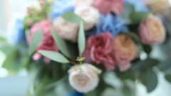 Wedding bouquet of delicate flowers Stock Footage