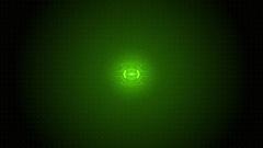 Futuristic Techno Ripple Green Shine Circuit Board. Stock Footage