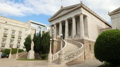 4K National Library of Greece Athens Athina Athen Greece Europe Stock Footage