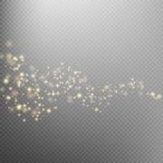 Gold glittering star dust trail. EPS 10 Stock Illustration