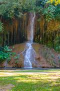 Phu Sang waterfall with water only in Thailand. -36 To 35 degree Celsius wa.. Stock Photos