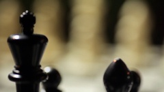 Chess board with shifting focus Stock Footage