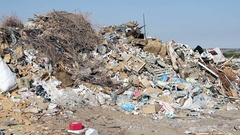 Large garbage dump waste Stock Footage