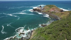 Flight towards Cape Schanck pulpit rock  Melbourne, Victoria, Australia Stock Footage