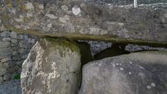 Rock stonehenge outside the Rock of Cashel in Ireland Stock Footage