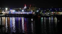 Night City, Ayia Napa. Cyprus Stock Footage