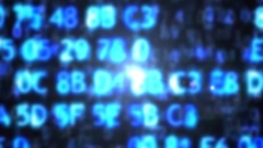 The computer code in the form of blurred. Computer code Stock Footage
