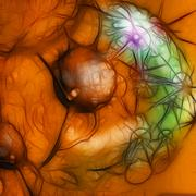 Cancer cell in human body Stock Illustration