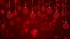 Christmas Card with Ornaments Loop Stock Footage