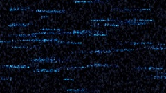 Hacker steals personal information on the Internet. Computer code Stock Footage