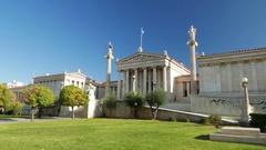 4K Academy of Athens Athina Athen Greece Europe Stock Footage