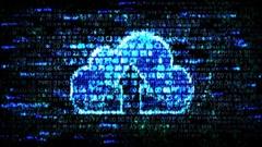 Data cloud storage. Cloud storage Stock Footage