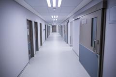 Hallway of a hospital Stock Photos