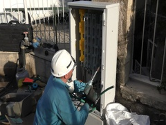 Engineers of the Israeli Electric Co fixing high voltage electrical panels Arkistovideo
