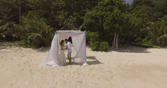 Magical wedding on a tropical island. Stock Footage