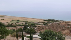 Beautiful view to the sea from Kourion. Cyprus Stock Footage