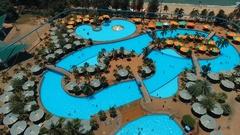 Aerial: Aqua park in Pattaya. Stock Footage
