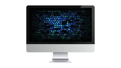 Blue computer hex code. Hackers on the Internet Arkistovideo