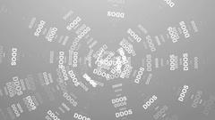 DDOS Attack, Infection trojan, virus attacks. DDOS Attack Stock Footage