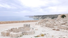 The ancient ruins of the Roman city Kourion Stock Footage