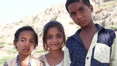 Portrait of Indian kids friends siblings hugging smiling playing and having fun Stock Footage